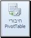 חיבורי PivotTable